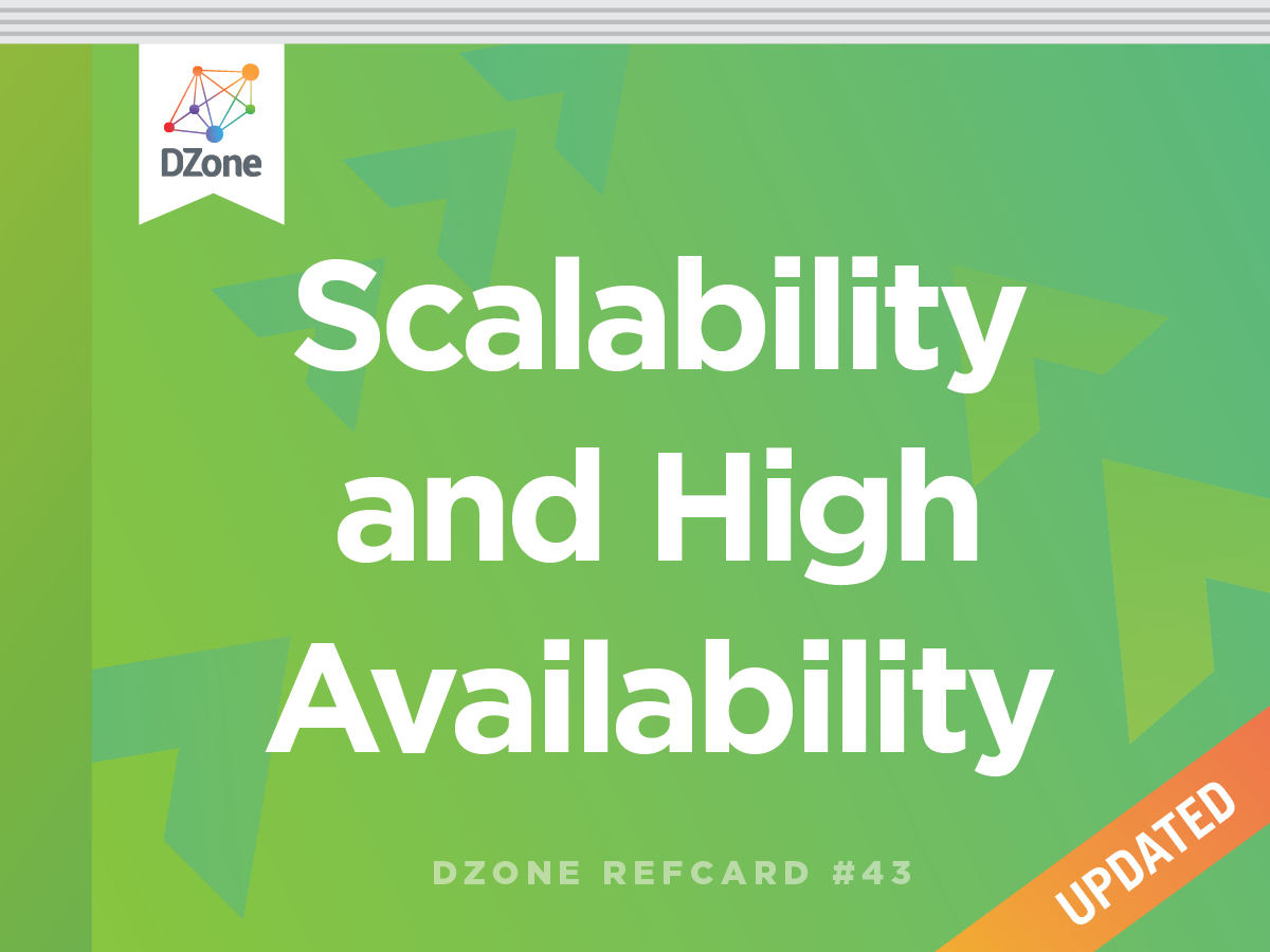 Scalability Amp High Availability Dzone Refcardz Ebook Implementation Products Robotics And Other Useful Things