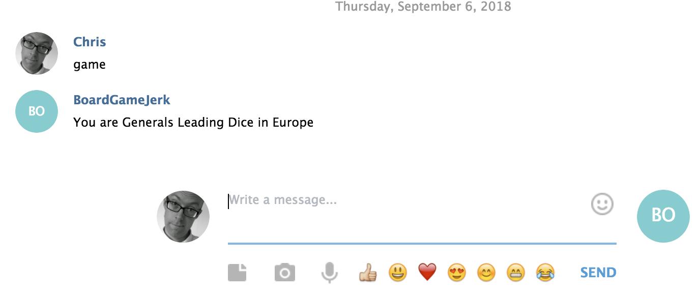 Bot running on Telegram