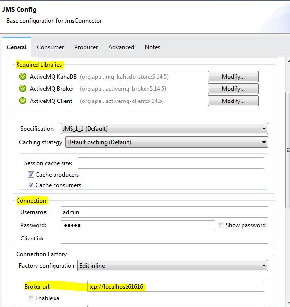 JMS Connector Configuration
