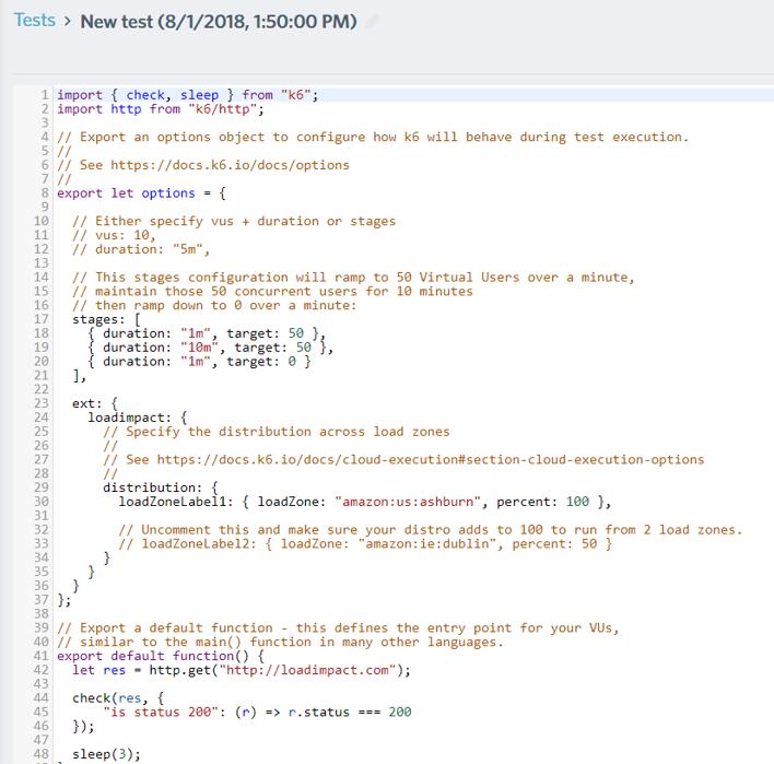 JavaScript Test Script