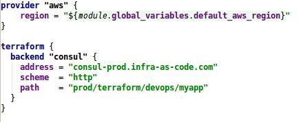 Terraform provider and backend configuration
