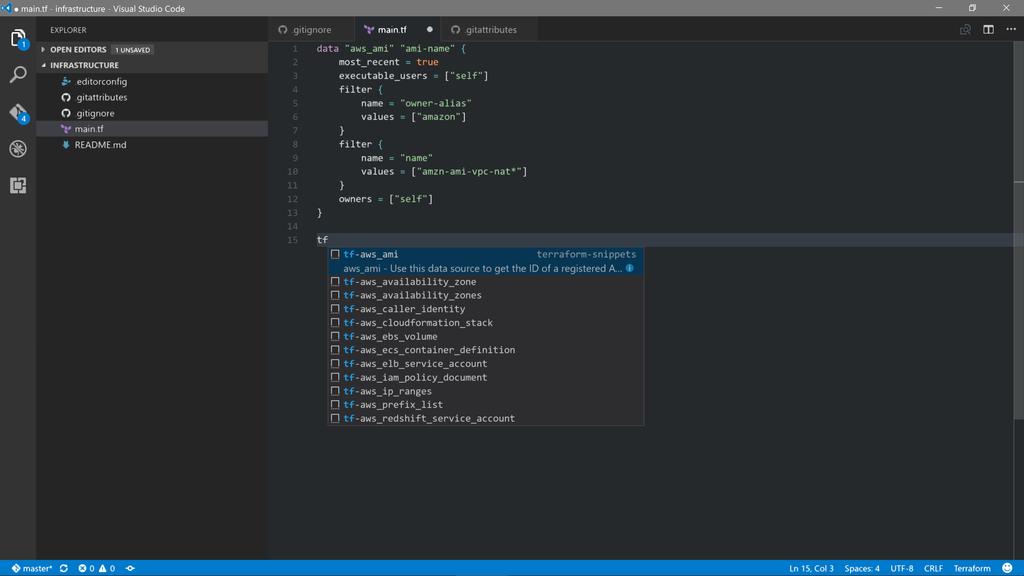 Terraform with Visual Studio Code