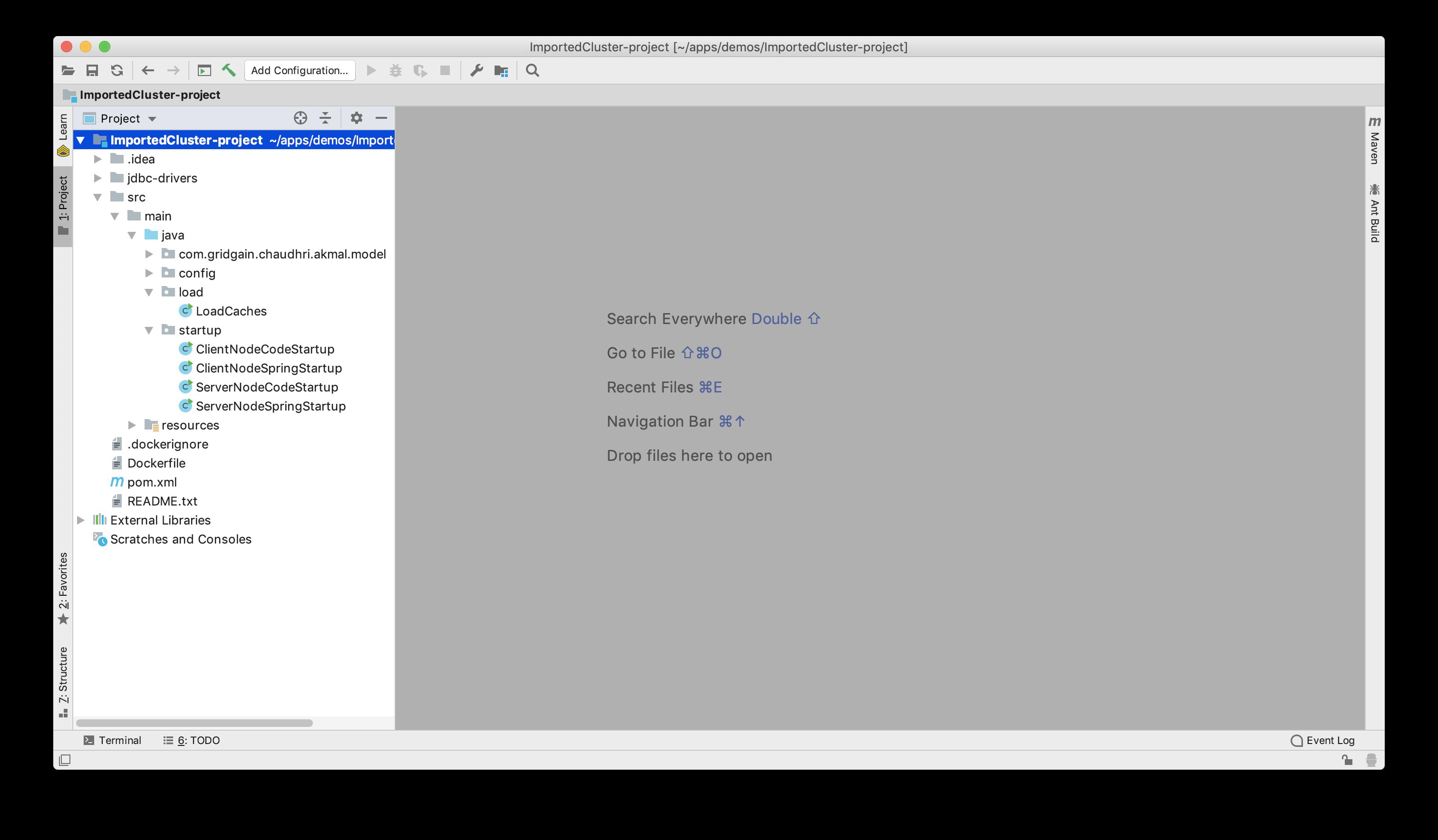 Figure 18: Project Loaded in IDE.