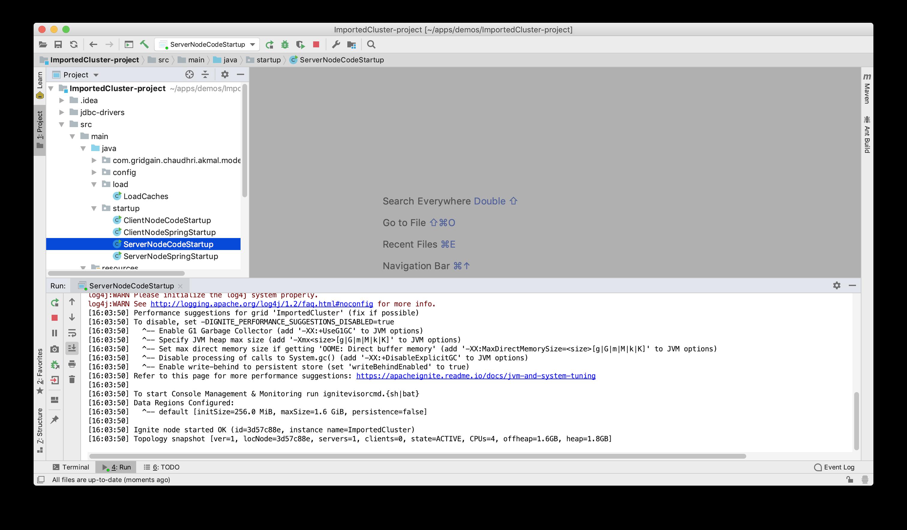 Figure 20: ServerNodeCodeStartup.