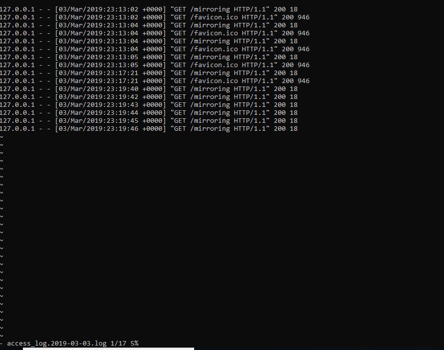 Tomcat access log file