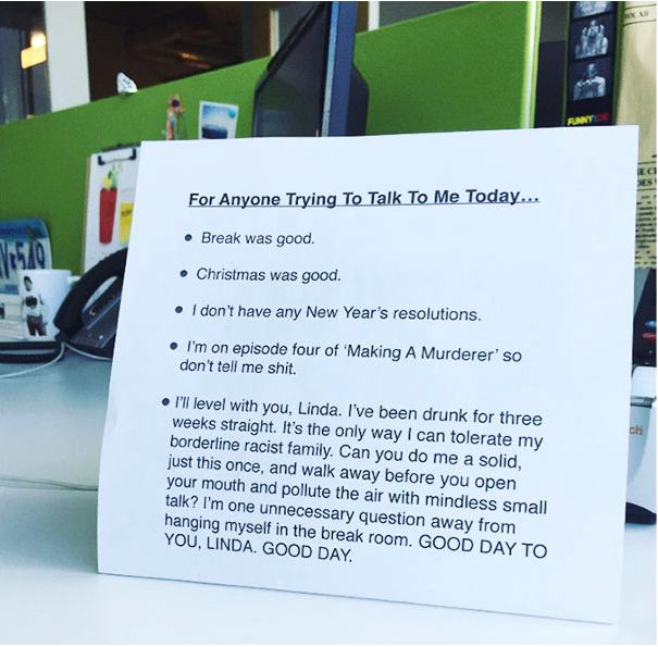Passive Aggressive Do Not Disturb Office Sign