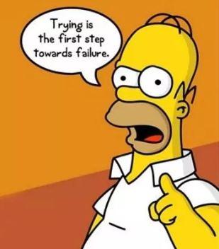 Homer simpson on failure