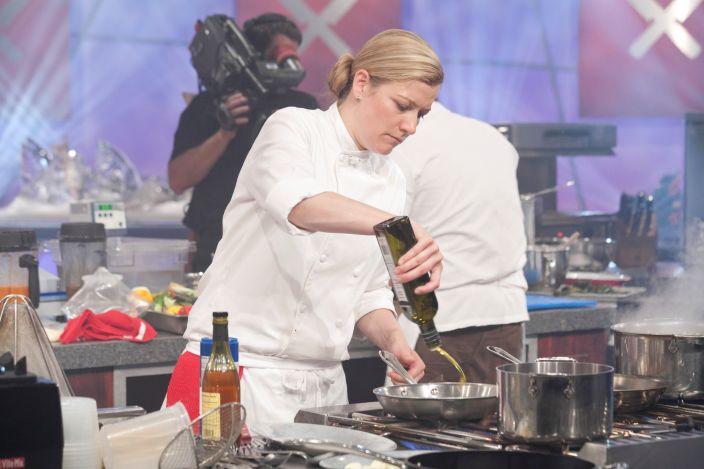 Ashley Christensen on Iron Chef America