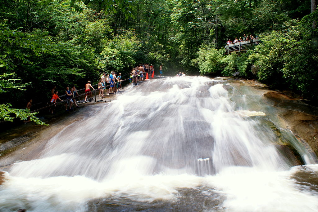 Sliding Rock in NC Mountains