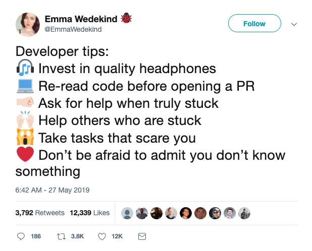 Emma Wedekind Tweet