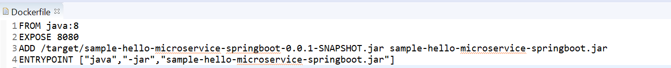 Dockerfile commands