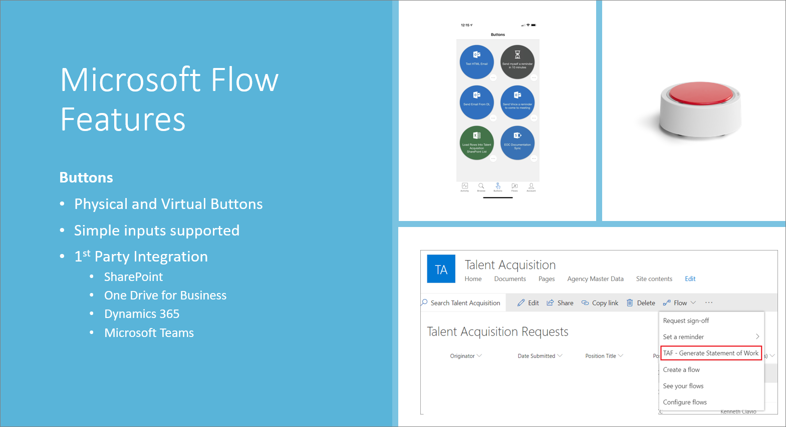 Microsoft Flow features
