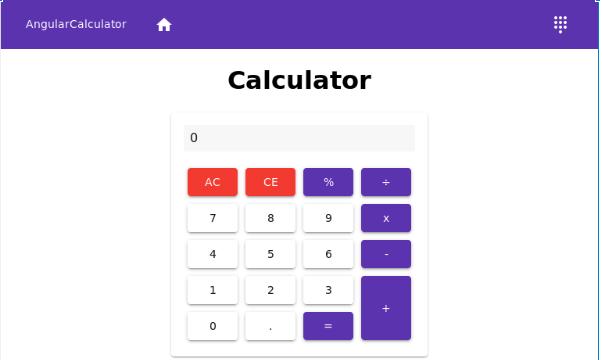 Angular calculator