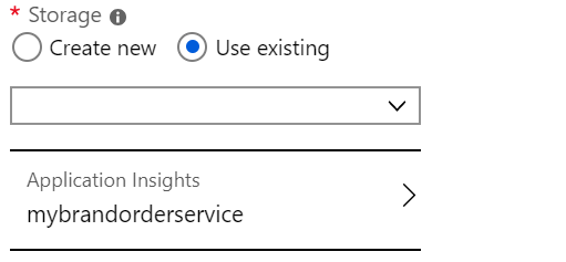 Select Application Insights