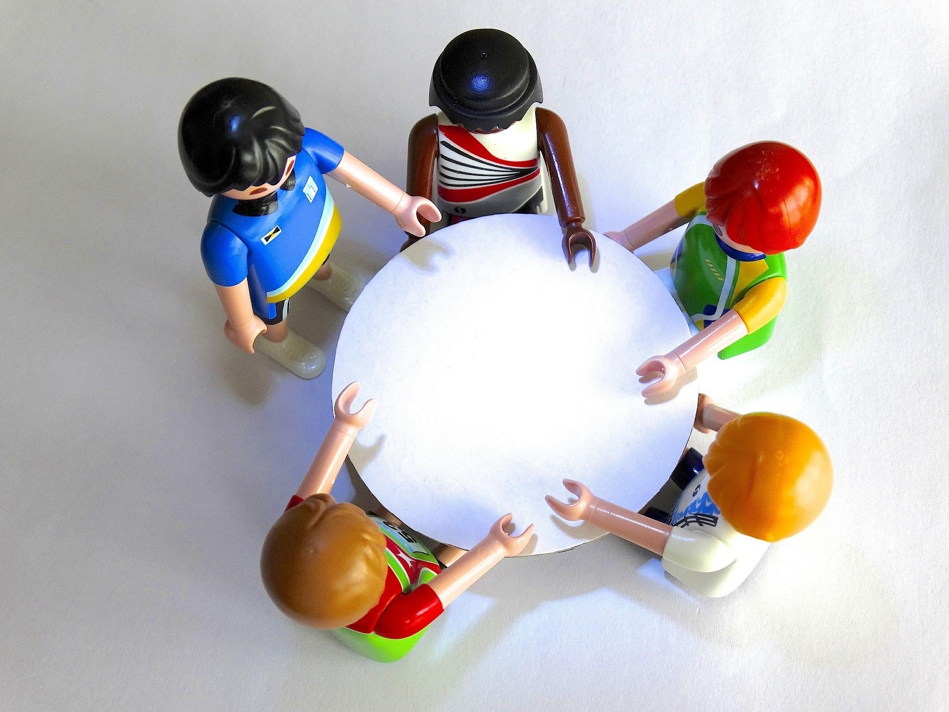 Toys having conversation