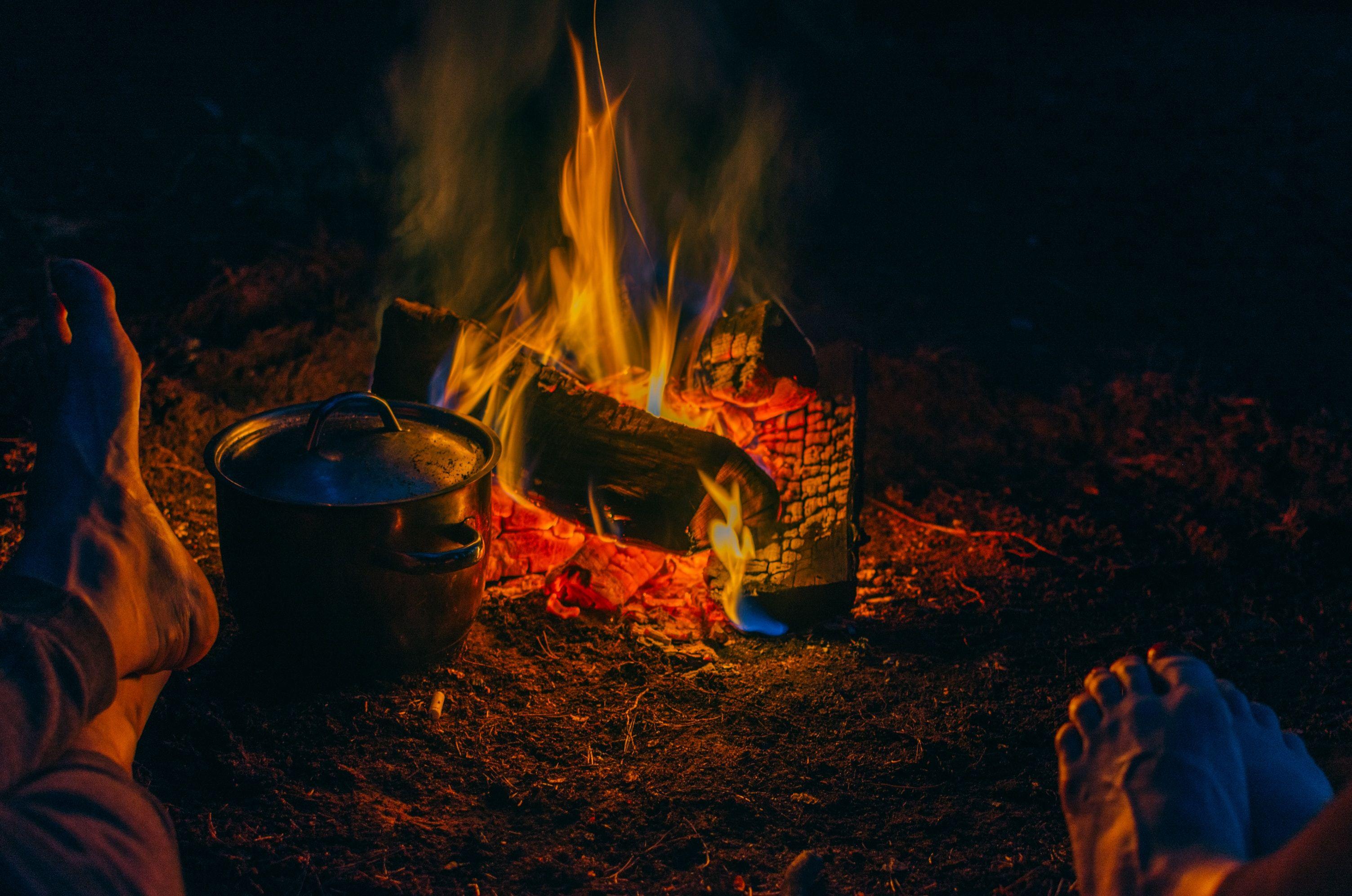 feet fireplace
