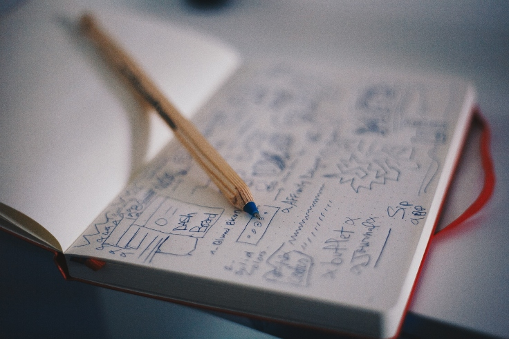 sketches-on-note-book