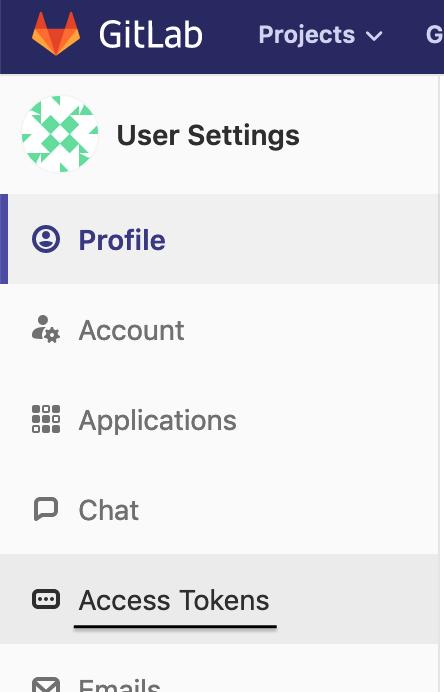 GitLab user account settings