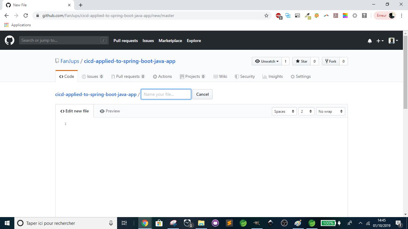 GitHub - Create new file