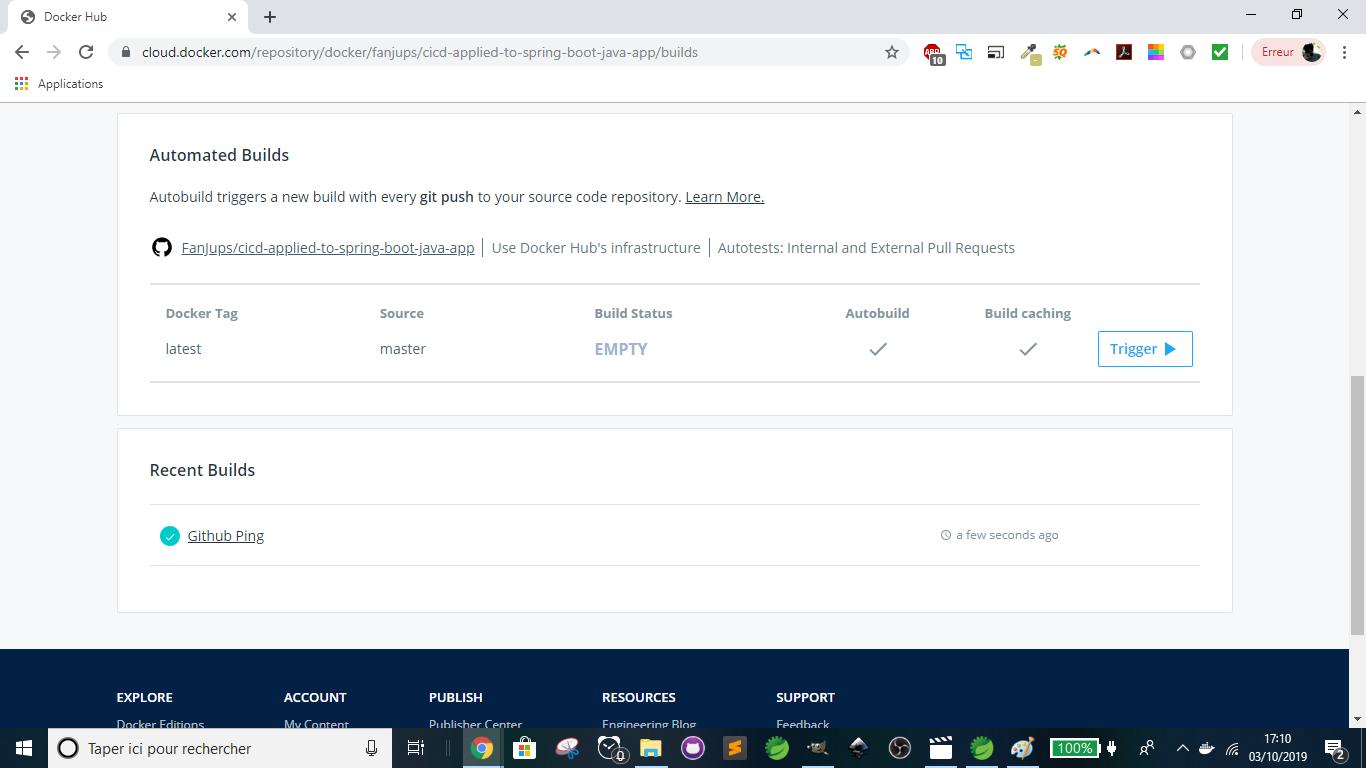 Docker - Github is now linked to Docker