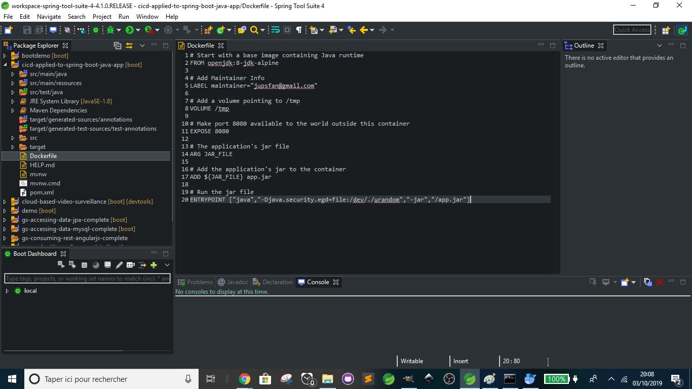 Docker - Dockerfile is ready