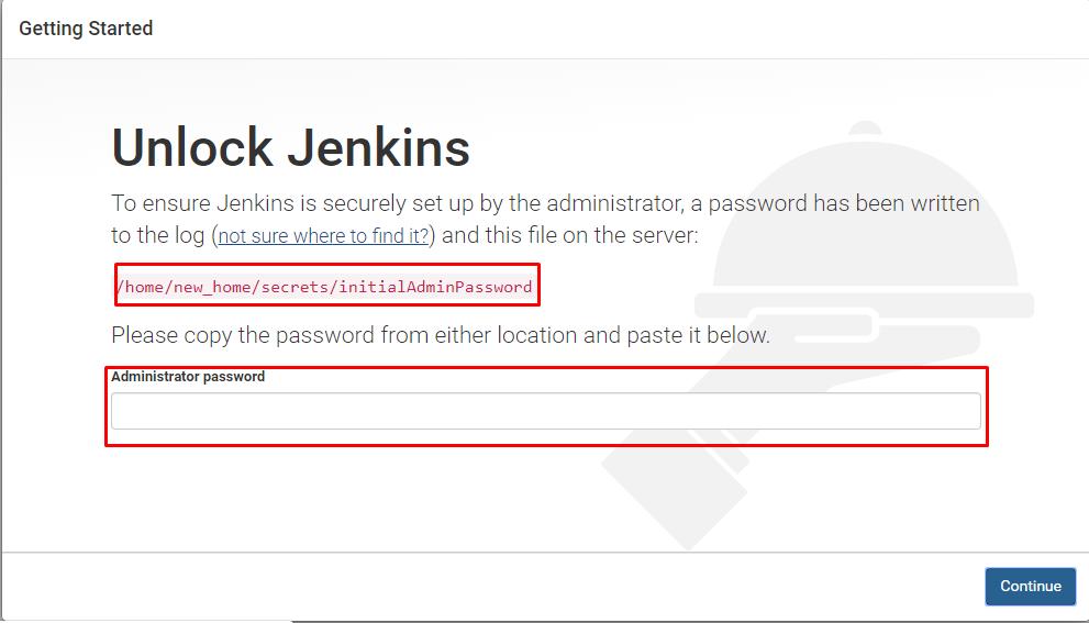 Initial admin password