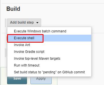execute step