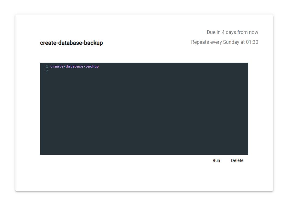 Creating database backup