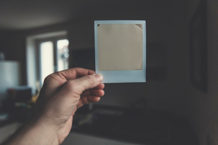 blank polaroid picture