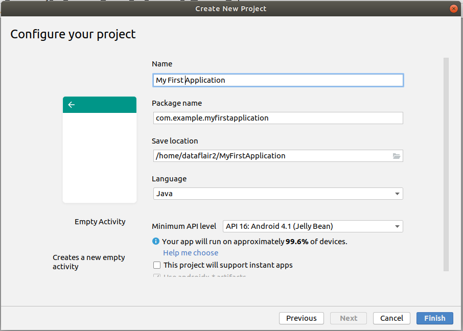 Configuring Android project