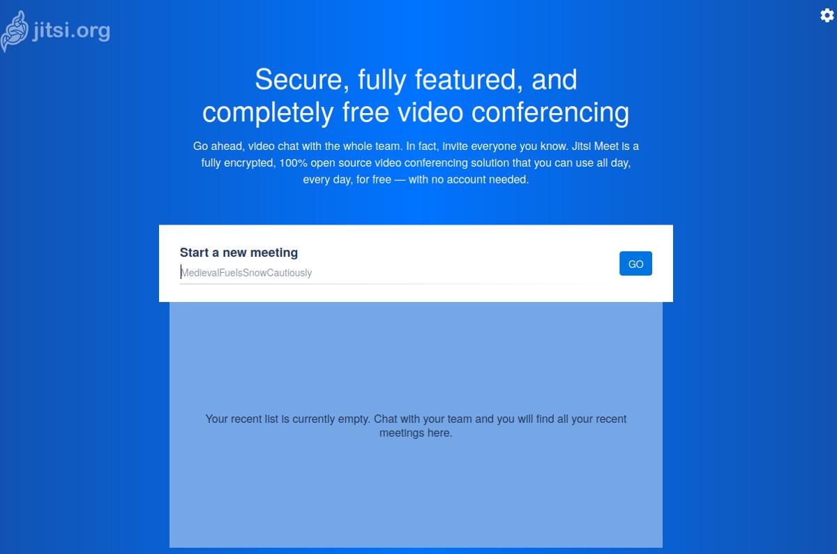 Jitsi video conference