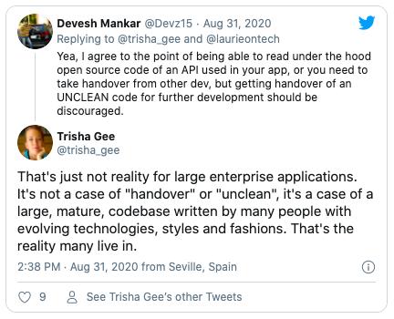 Reply to UNCLEAN tweet