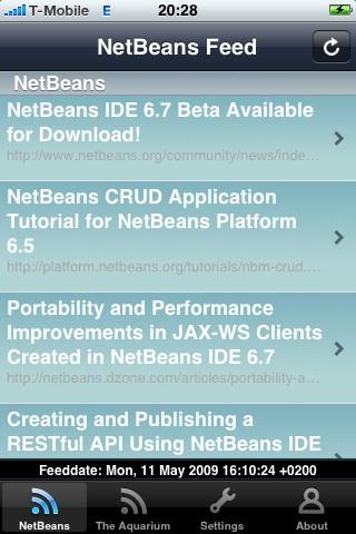 netbeans rss reader