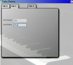 tab demo - tab 1
