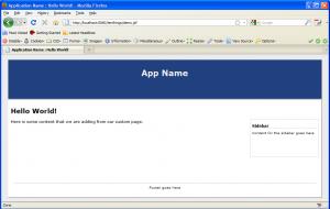 facelets template screenshot