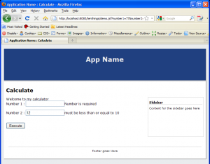 jsf validation example screenshot
