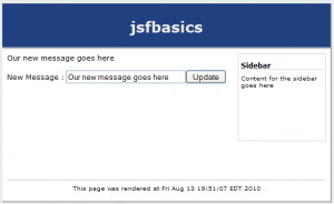 jsf basic form post screenshot