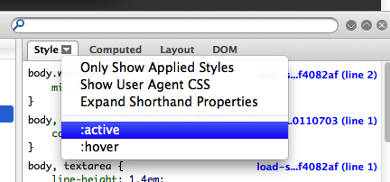 firebug style hover inspect how to inspect css hover , active property using firebug