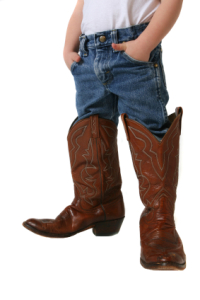 child in cowboy boots