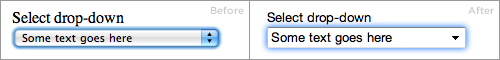 webkit select
