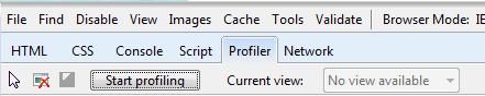 profiler tab