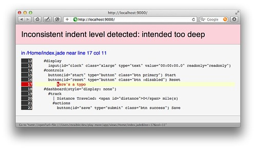 play scalate error reporting