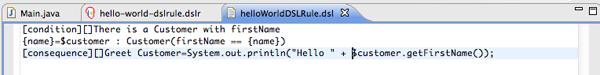 sample dsl rule