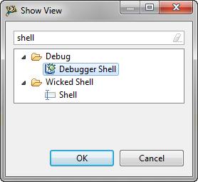 show view: debugger shell