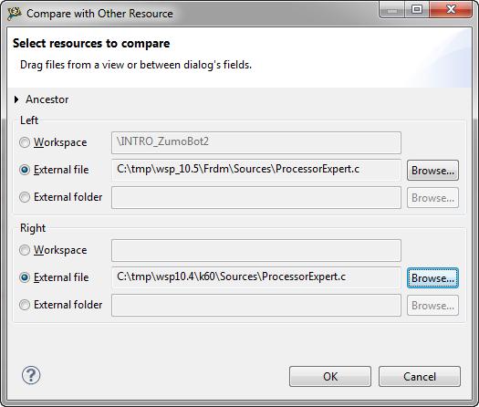 selected external files