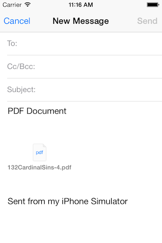 ios mail composer with attached pdf document
