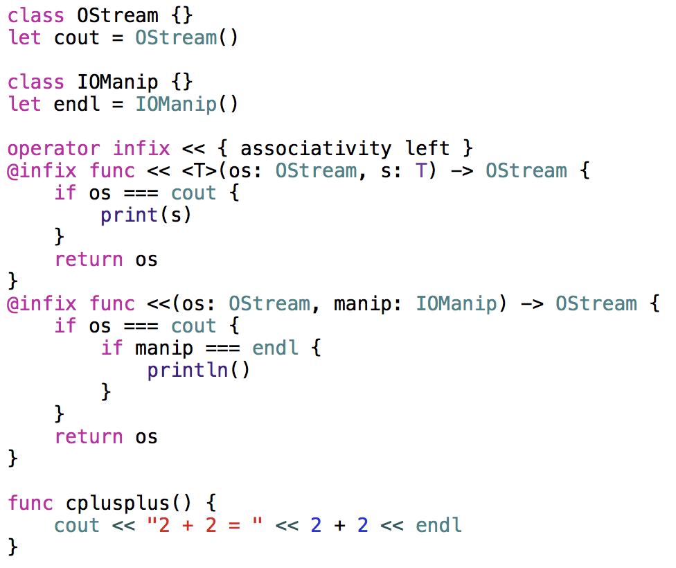 defining custom operators in swift can be fun.