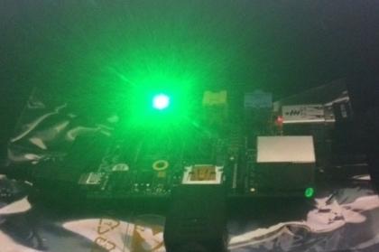 raspberry pi beacon glowing