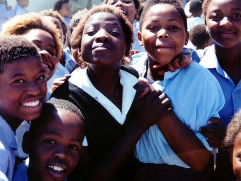 school children from khayelitsha hopolang primary school in south africa