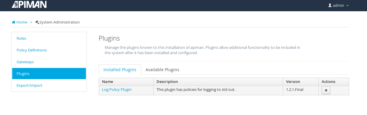 image: log policy plugin installed